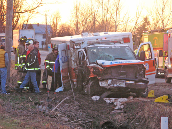 OBSERVER Photo by Amanda Dedie An accident at 4896 W. Lake Road in Dunkirk on Tuesday around 5 p.m. resulted in one fatality and two injured parties.
