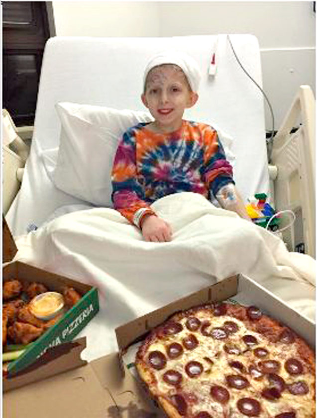 Submitted Photo. Andrew Masse, a local 10-year-old boy, is battling brain cancer for the third time and needs your help.