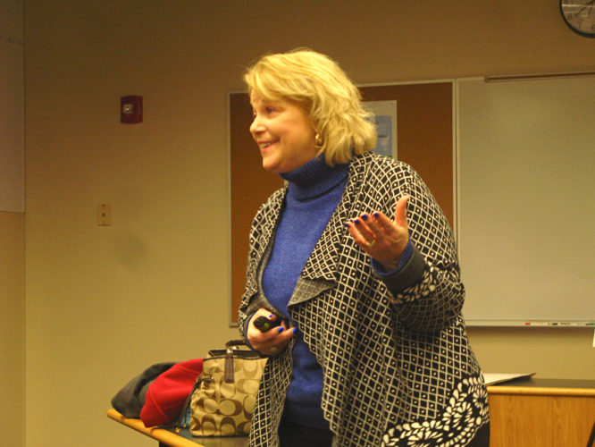 OBSERVERPhoto by Amanda Dedie. State University of New York at Fredonia President Dr. Virginia Horvath gave a presentation about the Central Connection Wednesday.