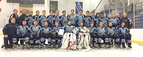 Members of the 2016-2017 Dunkirk-Fredonia Steelers hockey team.