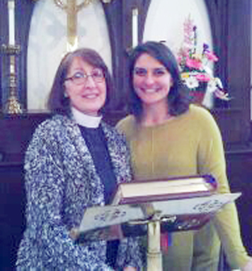Submitted Photo Pictured are Rev. Virginia Carr and Pilar Padron, who will be ordained on June 3 at the Episcopal Cathedral in Buffalo.