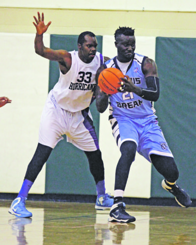 OBSERVER File Photo Maurice Greene (33) and the Chautauqua Hurricane will be back in action at Brocton High School tonight at 7 p.m. against the Ohio Bootleggers in Premier Basketball League action.