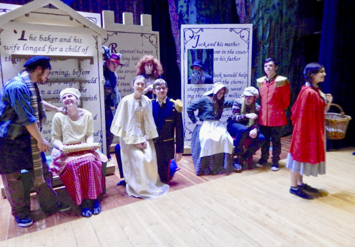 "Submitted Photo Cast members of ""Into the Woods,"" being performed on March 24 and 25 at 7:30 p.m. at Westfield Academy and Central School, strike a pose during rehearsal.  From left to right:  Jordan Jimenez (the Baker), Brittany Whitcomb (the Baker's Wife), Bradley Belmondo (the Wolf),  Grace Bodenmiller (Cinderella),  Alain Cockram (the Witch),  Joshua Kitchen (Cinderella's Prince),  Matt See (the Mysterious Man),  Allex Davidson (Jack's Mother), Luke Stephenson (Jack), Kailyn Gatto (Jack's Mother)."