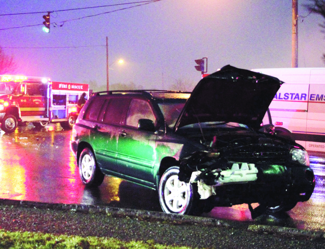 A two-car accident at around 7:30 p.m. ended with a man being removed from a vehicle as firefighters had to use the Jaws of Life. The vehicles collided at the traffic light intersection of Route 60 and the entrance to WalMart in Fredonia. Both vehicles were impacted on their front-right ends and the passenger of the southbound car needed the assistance. New York State Police were on hand to direct traffic as the five lane, one as a turning lane, turned into two lane road. The Fredonia firefighters removed the hood of the car and cleared the scene in around an hour.