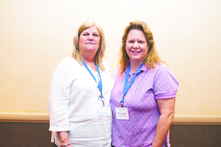 Photo by Grace Finlayson Local volunteer leaders, from left, Laura-Ann Morris and Christine Tedesco attended the annual Friendly Towns Leadership Conference in New York City.