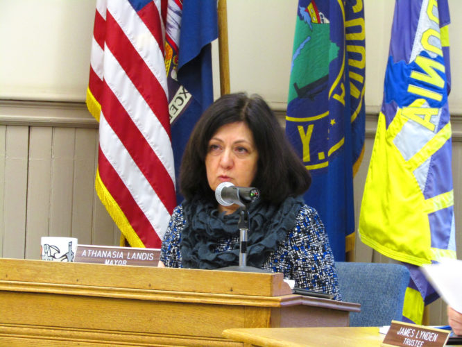 """""""When working through this budget, I tried to be very conservative with our day-to-day operating expenses, mainly because our capital project needs are enormous."""" Fredonia Mayor Athanasia Landis"""