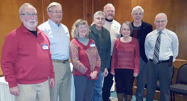 "Submitted Photo  Speakers at Chautauqua Rails to Trails recent ""Spring Salute"" were, left to right, Les Johnson, Jim Fincher, Pat Fincher, Devon Taylor, David Aiken, Lillian Ney, Andy Goodell and Robert Berke."