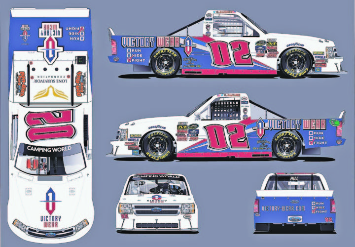 Submitted Photo Pictured is an artist's rendering of Austin Hill's No. 2 truck, which he drives in the NASCAR Camping World Truck Series. The truck is sponsored by Portland native Matt Jacques' company Victory Wear.