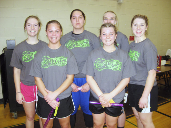 Submitted Photo: Pictured is one of the many teams who competed in the Fourth Annual March Madness event held at Pine Valley High School. The 3-on-3 basketball tournament raised $4,900 to help young community members in need.