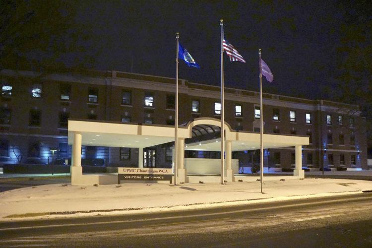 UPMC Chautauqua WCA with blue lights