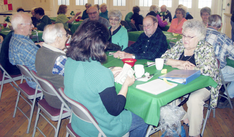 OBSERVER Photo by Gib Snyder: Pictured is part of the turnout on Tuesday at the Silver Creek Seniors St. Patrick's Day celebration. Members of the Sheridan Happy Seniors were also in attendance.
