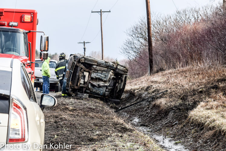 A rollover accident in Stockton this morning happened on Cummings Road.