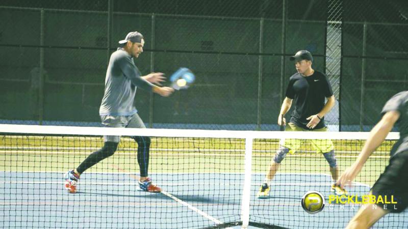 "Submitted Photo Andy Roddick is pictured playing Pickleball, which is considered one of the ""fastest growing sports"" in the world. Pickleball, which is played on a court one-third the size of a tennis court, is played with paddles instead of racquets and a ball that looks like a wiffle ball."