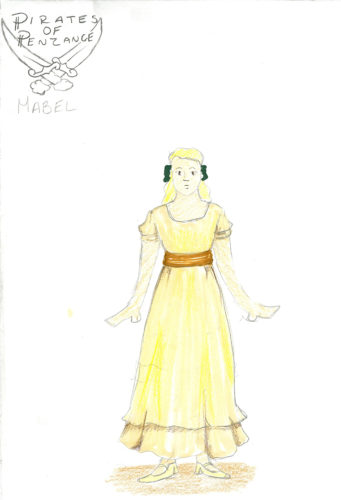 "Submitted Photos Pictured is Cassie Williams' design sketch for Mabel in Fredonia's ""Pirates of Penzance."""