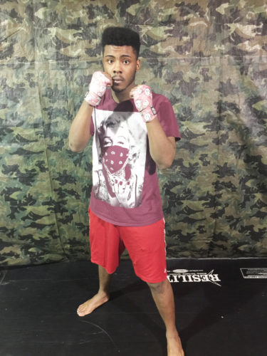 Submitted Photo Dunkirk's Malique Carter will take part in the Castricone Bouts, which will be held in Buffalo on Saturday, April 22. Carter trains out of Elevation Combat Sports Academy and will be one of four local fighters competing in the event.