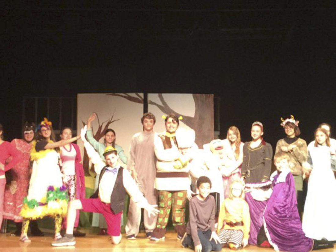 """Submitted Photo: Pictured is the cast of """"Shrek the Musical, Jr."""""""