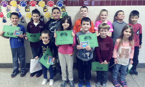 Submitted Photo December Students of the Month at School Four have been announced by Principal Kimberlee Texter. Pictured in the front row from left are: Alanah Rosario, Ryleigh Donato, Charles Roberts, Trevor Jacques and Sylvia Raimondi. Back: David Newcomb, Joshua Lemanski, Metzael Colon Padilla, Anthony Miller, Hazel Bache, Henry Leone and Lucas Felt.