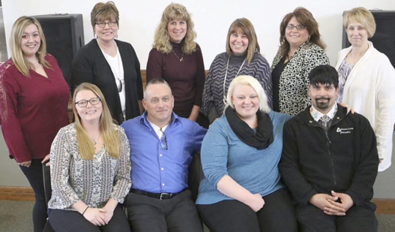 Submitted Photo Pictured are, from left, sitting, Jen Herron, Bob Warner, Tabatha Stenstrom and Daniel Ortega; and, standing, Nikki Brunecz, Pam Nordin, Beth Jermain, Terri Johnson, Heather Brown and Sue Woods.