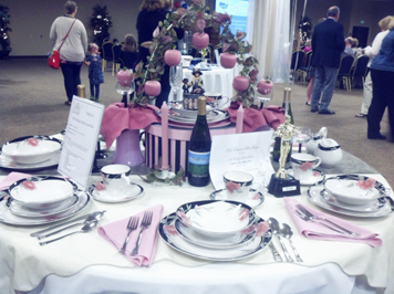 OBSERVER Photo by Vicki Notaro: This was a table decorated for the 2016 CASA Come to the Table event.