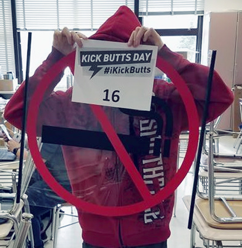 Submitted Photo: Students across the county recently participated in the 22nd annual Kick Butts Day to fight against the use of tobacco.