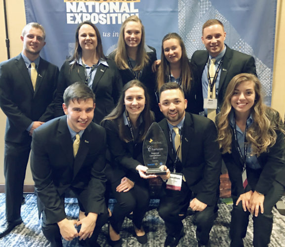 Submitted Photo Fredonia Enactus presentation team members.