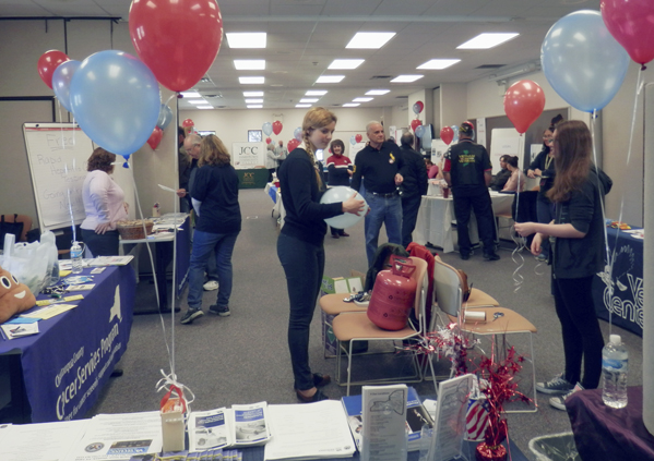 Submitted Photo: It was a festive setup at the Jamestown Community College North County Center Training Facility in Dunkirk, this past Saturday, April for a veteran workshop. A second workshop will be held April 29 at the Jamestown Community College Student Union, 525 Falconer St. in Jamestown.