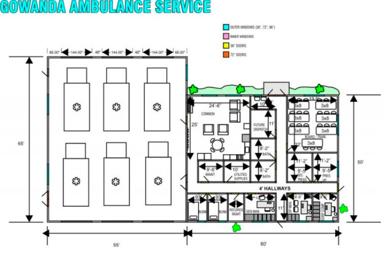 Submitted Graphic Pictured is a blueprint of the building that will house the Gowanda Ambulance.
