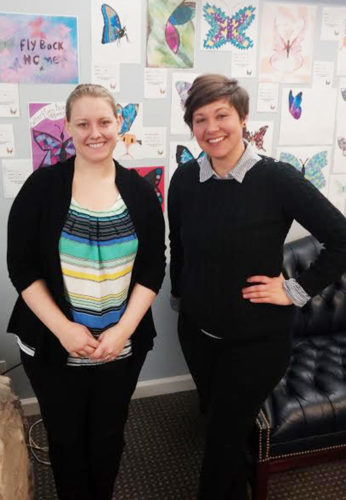 Submitted Photo Pictured are new Chautauqua Hospice and Palliative Care Team members Music Therapist Shelby Hester  (left) and Johnna Grice, RN.