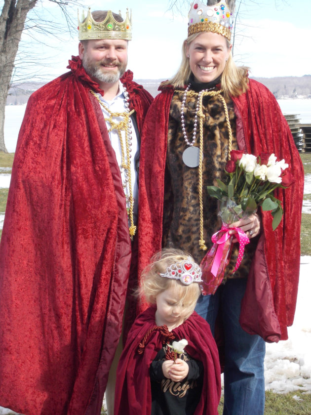 Submitted Photo: From left are Ben Webb, Amy Webb with Olivia Przepiora, a Princess of the royal court.