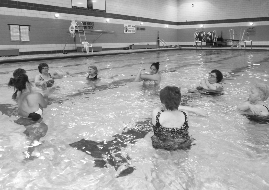Submitted Photo: Aquacize and Mommy/Daddy & Me swim classes are just two of the health and wellness course offerings this spring at the Silver Creek Central School District.