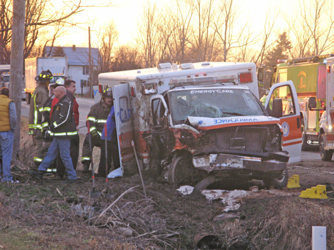 OBSERVER File Photo: Robin Morey, the ambulance driver in a fatal accident on Feb. 14, has been ticketed with failing to stay in the driving lane. She is not facing criminal charges.