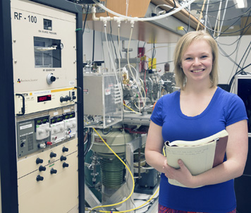 Submitted Photo Lanford Presidential Prize recipient at Fredonia Sarah Chamberlain in a physics lab in the Science Center at SUNY Fredonia.