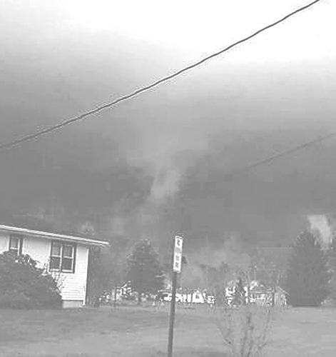 Photo by Kelly West: The National Weather Service in State College, Pa., has confirmed reports of a tornado in Warren County on Thursday night.