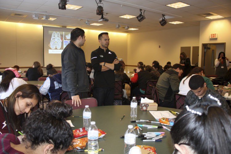 Submitted Photo Approximately 40 Hispanic students from both Dunkirk High School and the Chautauqua Striders program in Jamestown participated in a Hispanic Outreach Leadership and Ambassador workshop at the Jamestown Community College campus.