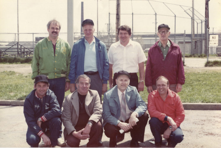"Submitted Photo Pictured are the 1984 Dunkirk Little League officers. Front row from left: Jim Stearns, Chester ""Tosco"" Gliwa, Ed ""Cherry"" Wisniewski and Frank Iskra. Back row: Bob Uszacki, Jack Peterson, Jim Ellman and Bill Fitzer."