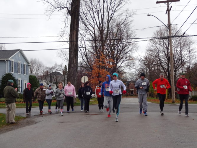 Candid of some race participants at the starting line. Submitted photo