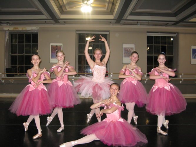 "The Chautauqua Regional Youth Ballet will present its annual production of ""The Nutcracker."" Pictured, from left, are featured dancers Maya Swanson, Cecelia Johnson, Kaitlin Healy, Amelia Dolce, Megan Stefanik and Lillian Jache. P-J photo by Gavin Paterniti"
