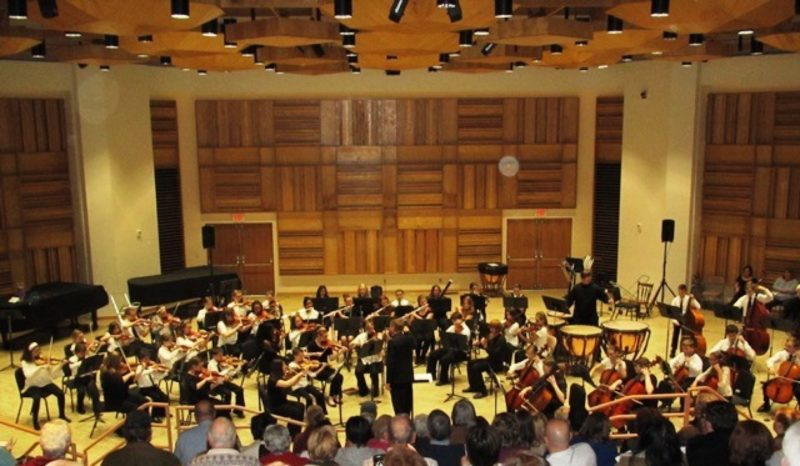 "Friday, Dec. 16, is the deadline for teachers to recommend students to participate in one of the Chautauqua Regional Youth Symphony's three orchestras. Pictured are the combined orchestras performing the Star Wars theme at their Spring Gala Concert last May in Chautauqua Institution's Elizabeth Lenna Hall. A field trip is planned for Chautauqua Regional Youth Symphony students next spring to hear the Rochester Philharmonic Orchestra perform ""Star Wars and More: The Best of John Williams."""