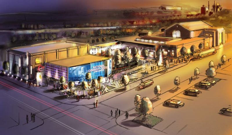 Above, a conceptual drawing of the National Comedy Center, which will receive $834,000 from the state through the 2016 Regional Economic Development Council program.