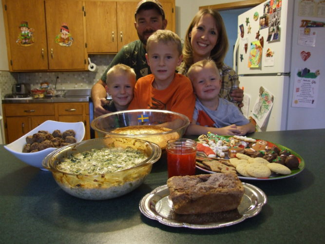 Amanda Jones in her happy place with husband, Mike, and their three sons, Brice, Braden and Brody. Submitted photos