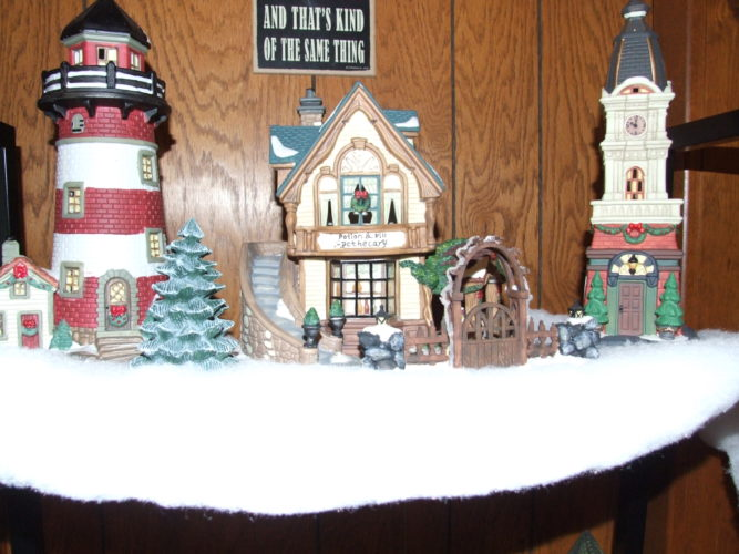 Joan Waterman displays her Christmas village each December. Submitted photos