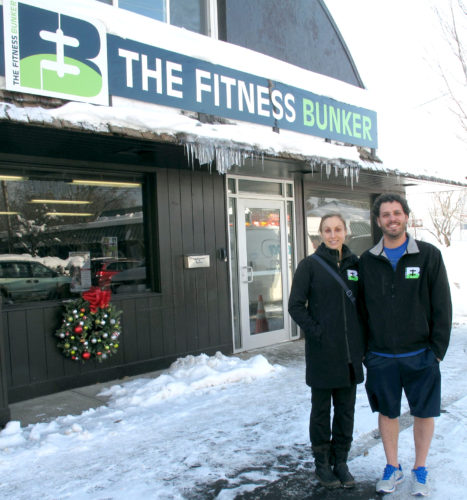 From left, Laurie Shults and Salvatore Rachuna, The Fitness Bunker co-owners, at the new 24-hour fitness center, located at 9 W. Summit Ave. in Lakewood. P-J photo by A.J. Rao