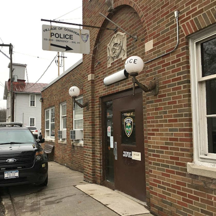 A picture of the Gowanda Police Department, a bustling venue as officers were called to four overdoses in just 10 days. Photo by Andrew Kuckowski