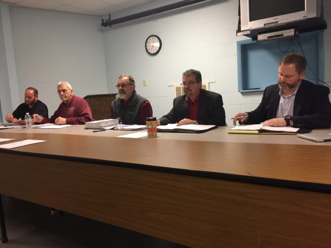 The Mayville Village Board held its first meeting of the new year Tuesday. Trustees approved the presentation of the mayor's tentative budget for the 2017-18 fiscal year. Budget work sessions and a public hearing were also set. P-J photo by Jimmy McCarthy