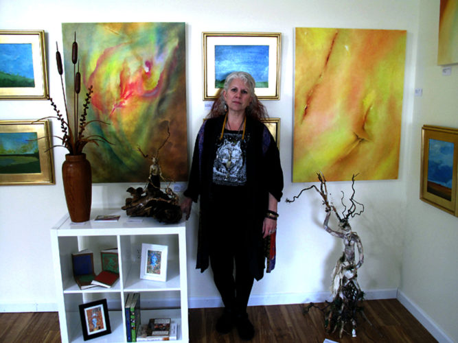 Buffalo native and Sherman resident Liag Zeppetello will hold the grand opening of her shop — Imaginal Realm, Art and Gifts of the Earth Experience — on Wednesday, from noon-7 p.m., at 141 Chautauqua Ave. The shop offers an eclectic and unusual blend of abstract art, hand-crafted ceramics, journals, jewelry, wood sculptures and more. P-J photo by A.J. Rao