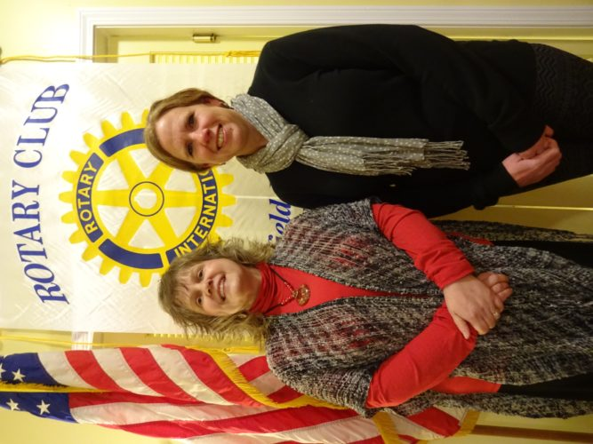 Pictured, from left, are Michele Starwalt, Chautauqua Striders Director of North County Programs, who gave an overview of services offered by the Striders at the Jan. 10 meeting of the Rotary Club of Westfield-Mayville. She was introduced by Adele Harrington, Immediate Past President of this club.