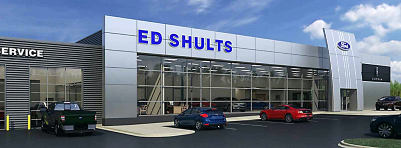 A conceptual rendering of the new Ed Shults Ford Lincoln, located at 2257 Washington St., where a ribbon cutting ceremony will take place at 4 p.m. Friday for the new state-of-the-art dealership facility. Submitted photo