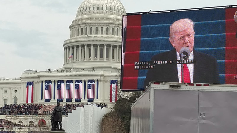 Three county Republican legislators made their way to Washington D.C., for the inauguration ceremony. This is the view they had during the inaugural address.  Submitted photo