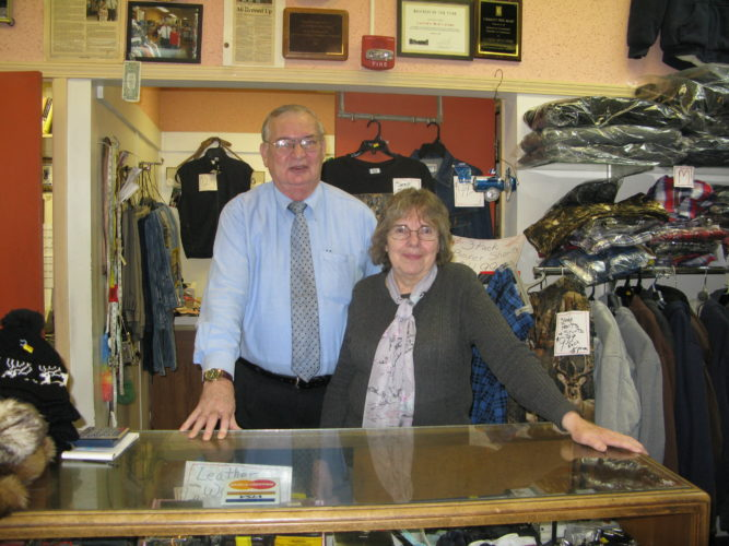 Clifford and Ann Powers have owned and operated Lander's Men's Store since purchasing the business from its original owner, Jack Lander, in 1980. P-J photo by Gavin Paterniti