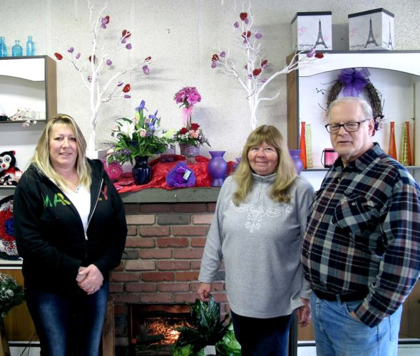 From left, Carole Lukacz, design specialist; and Jill and Tom Messenger, owners of Garden of Eden Florist, located at 432 Fairmount Ave. Garden of Eden, located at 432 Fairmount Ave., is celebrating 40 years in business this year.   P-J photo by A.J. Rao